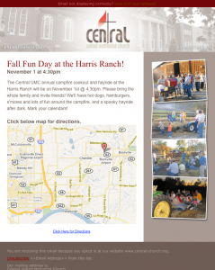 Central Church Email Campaign