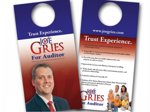 Joe Gries for Auditor Door Hangers
