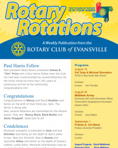 Rotary Club of Evansville Email Campaign