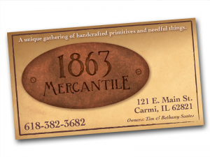 1863 Mercantile Cards